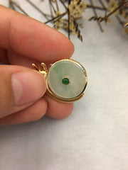 Icy Green Safety Coin Pendant - Snail (PE272)