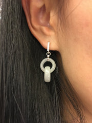 Icy Jade Earrings - Double Rings (EA303)