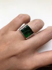 Dark Green Ring - Square (RI075)