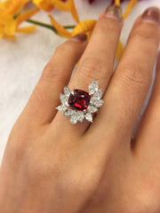 Natural Orangy Red Spinel Ring (GE097)