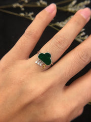 Dark Green Jade Ring - Rain (RI135)