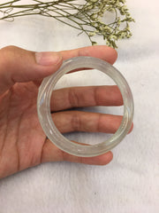 Icy Jade Bangle - Oval (BA033)