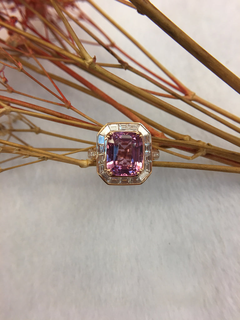 Natural Pink Spinel Ring (GE046)