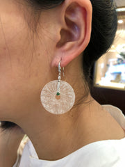 Icy White Earrings - Round (EA216)