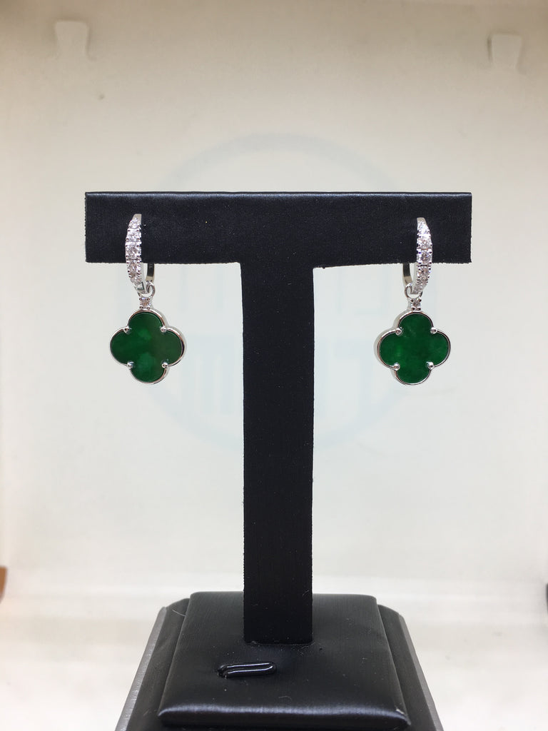 Dark Green Earrings - Clover (EA241)