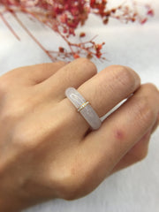 Icy White Jade Hololith Ring (RI251)