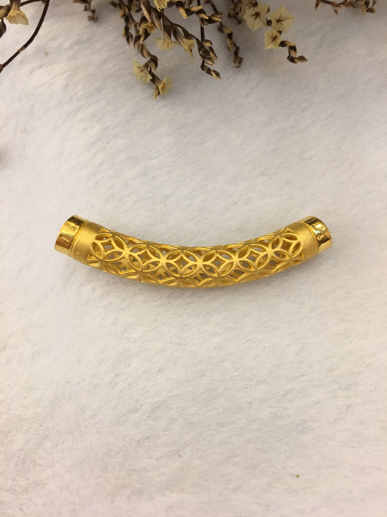24k Pure Gold Barrel Bracelet (BR177)