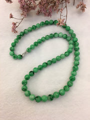 Green Jade Beads Necklace (NE043)