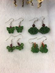 Nephrite Jade Earrings (EA126)