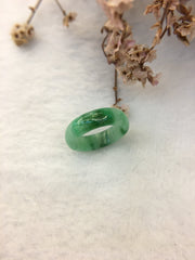 Green Jade Hololith Ring (RI065)