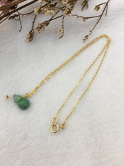 Green Jade Hulu Necklace (NE006)