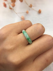 Green Jade Hololith Ring (RI277)