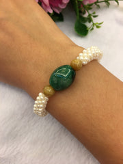 Dark Green Barrel Bracelet (BR109)
