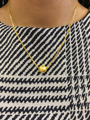 24k Pure Gold Ball Necklace (NE069)