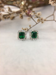 Natural Tsavorite Earrings (GE098)