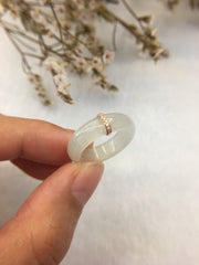 Icy White Jade Ring (RI216)