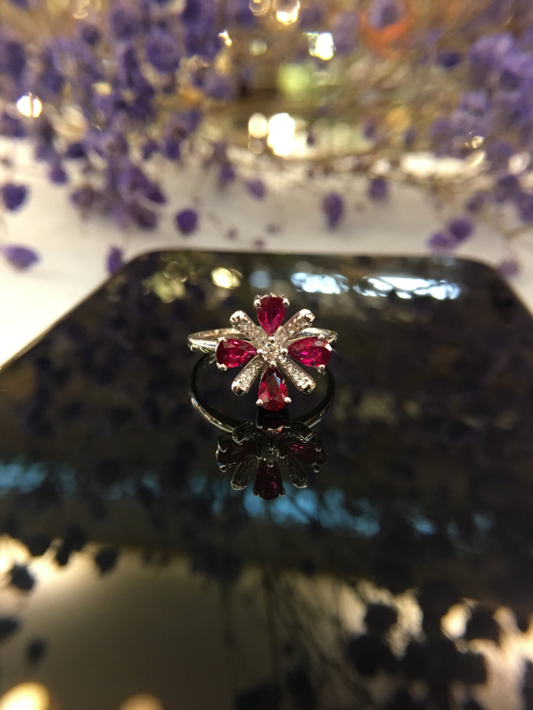 Natural Ruby Ring (Unheated) (GE059)