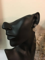 Icy Jade Earrings - Balls (EA088)