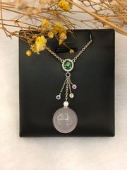 Lavender Jade Ball Necklace (NE060)