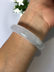 Icy Green Jade Bangle - Round (BA186)