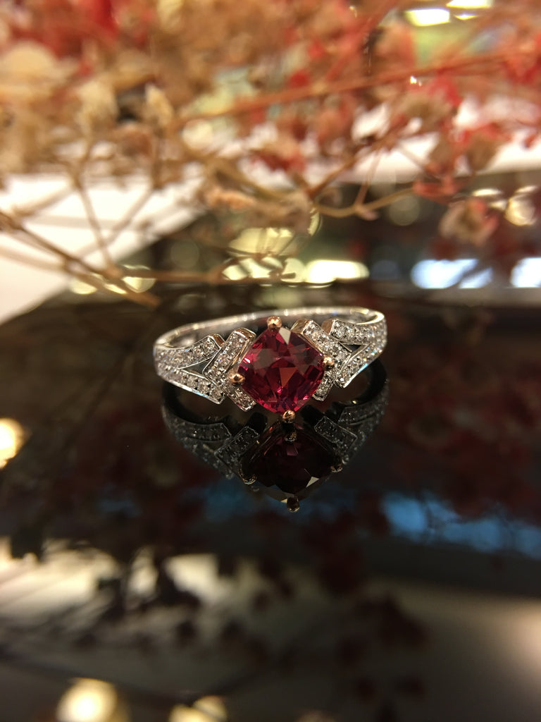 Natural Purple Pink Spinel Ring (GE044)