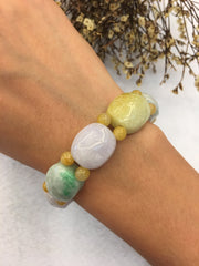 Multi-colours Jade Bracelet - Tortoise Shell (BR035)