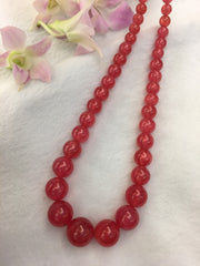 Rhodochrosite Beads Necklace (GE074)