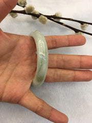 Light Green Jade Bangle - Round (BA129)