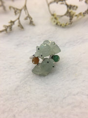 Icy Green Jade Ring - Goldfish (RI149)