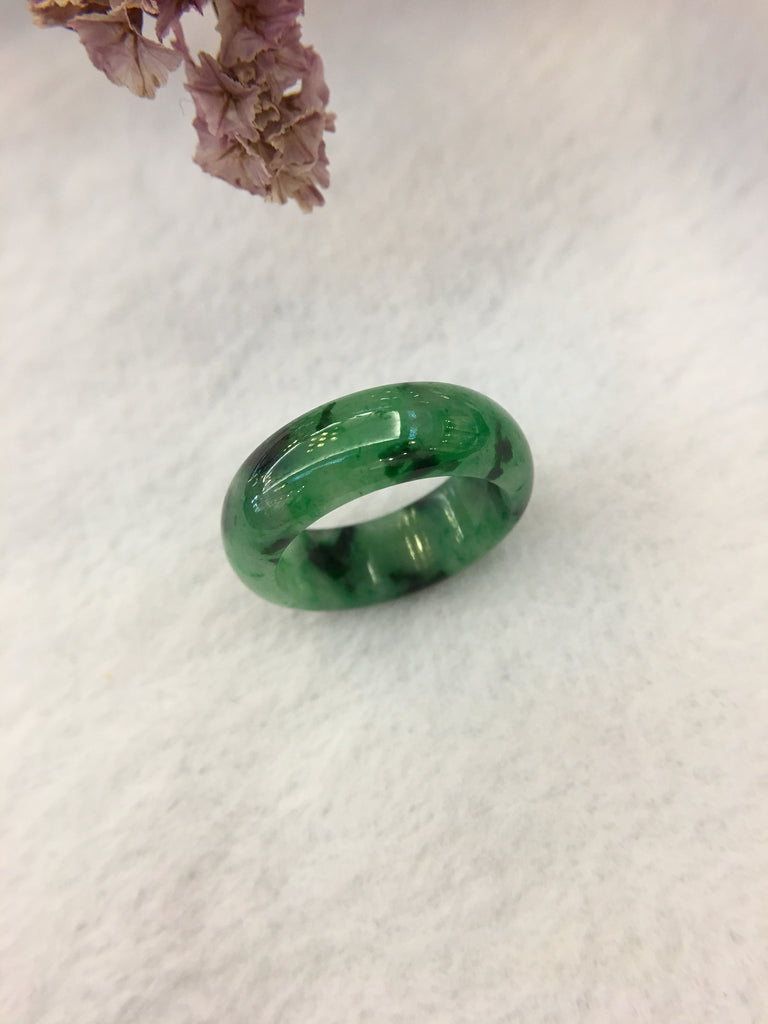Dark Green Jade Hololith Ring (RI272)