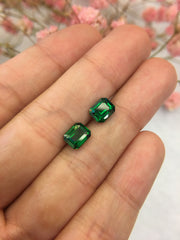 Natural Tsavorite Earrings (GE055)