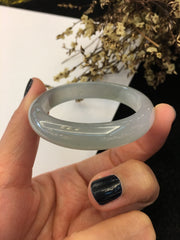 Icy Jade Bangle - Oval (BA172)