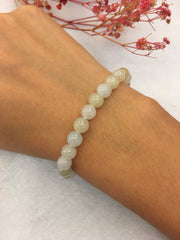 Icy White & Light Yellow Bracelet - Beads (BR064)