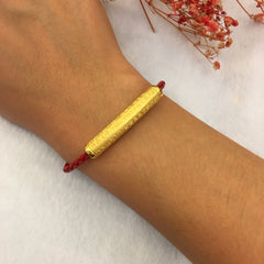 24k Pure Gold Barrel - Bracelet (BR142)