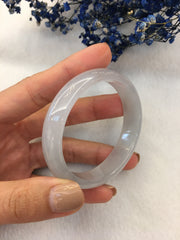 Icy Jade Bangle - Oval (BA228)