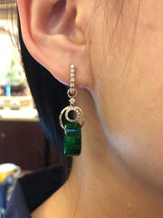 Green Barrel Earrings (EA137)