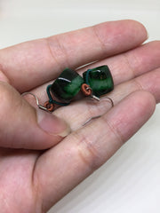 Green Barrel Earrings (EA139)