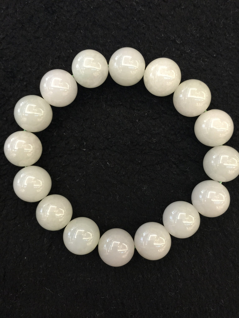 Icy White Bracelet - Beads (BR045)