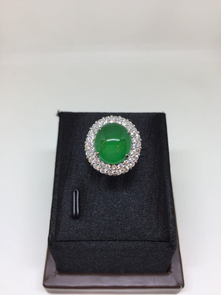Green Ring - Cabochon (RI049)
