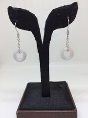 White Earrings - Round (EA153)
