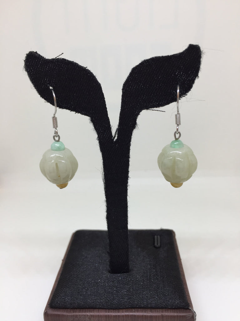 White Earrings - Lantern (EA175)