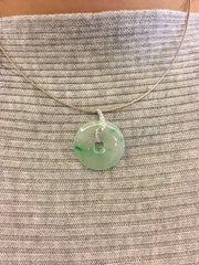 Green Pendant - Safety Coin (PE147)