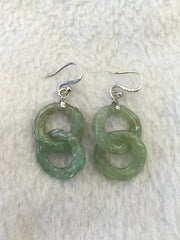 Green Earrings - Dragon Double Loops (EA081)