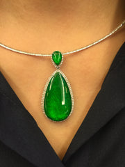 Green Pendant - Teardrop (PE079)