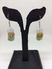 Three Colours Earrings - Safety Coin (EA204)
