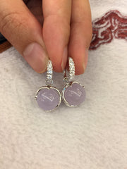 Lavender Earrings - Balls (EA198)