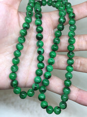 Green Beads Necklace (NE022)