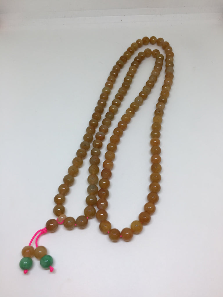 Icy Reddish Yellow Beads Necklace (NE023)
