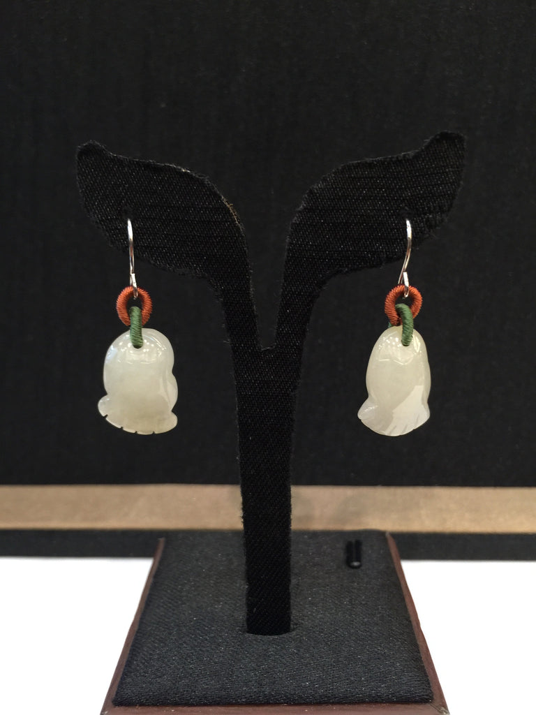 Icy White Earrings - Happy Feet (EA011)