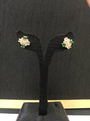 Icy White & Green Earrings - Cross (EA055)
